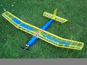 Flutterbug rc trainer power glider kit balsa model plane laser cut kit  electric or 049 FMK models